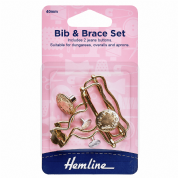 Hemline Bib and Brace Set - Gold - 40mm